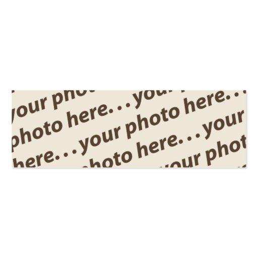 Double citation faite sur commande du signet w/Tho Carte De Visite