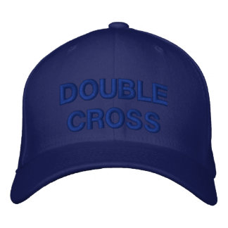 DOUBLE CROSS EMBROIDERED HAT