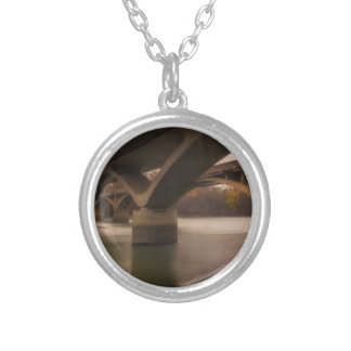 Double Crossing Silver Plated Necklace