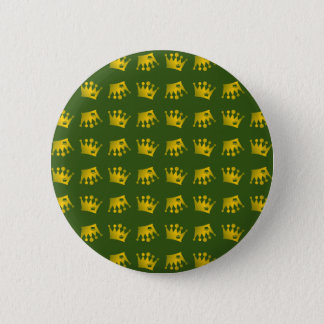Double Crown Pattern 2 Inch Round Button