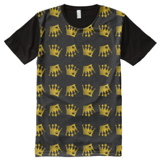 Double Crown Pattern All-Over-Print T-Shirt