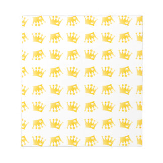Double Crown Pattern Notepad