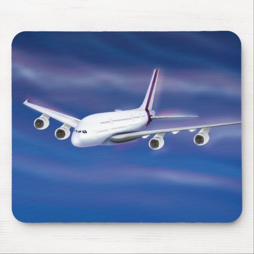 Double Deck Jet Airliner Mouse Pad