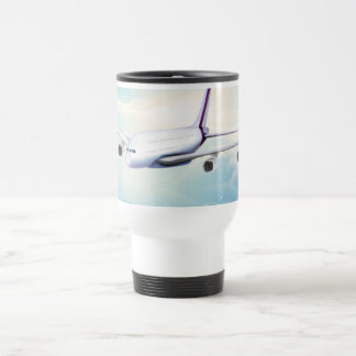 Double Deck Jet Airliner Travel Mug