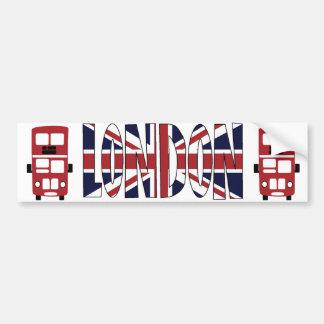 Double decker bus LONDON bumper sticker