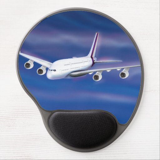 Double Decker Commercial Airplane Gel Mouse Mat
