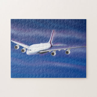 Double Decker Commercial Airplane Jigsaw Puzzle