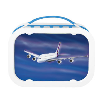 Double Decker Commercial Airplane Lunchbox