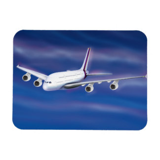 Double Decker Commercial Airplane Magnet