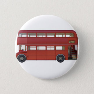 Double Decker Red Bus 2 Inch Round Button