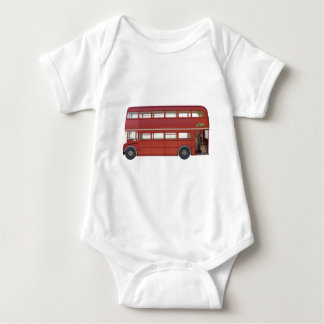 Double Decker Red Bus Baby Bodysuit