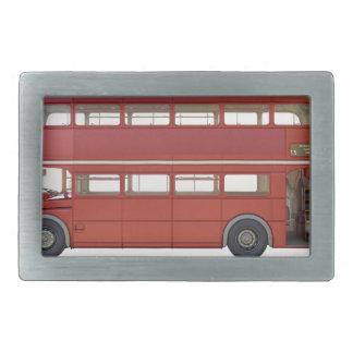 Double Decker Red Bus Belt Buckles