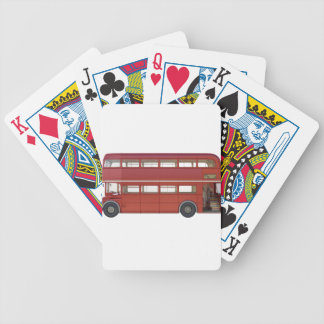 Double Decker Red Bus Bicycle Playing Cards