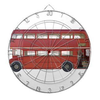 Double Decker Red Bus Dartboard
