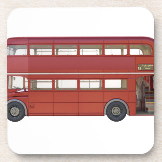 Double Decker Red Bus Drink Coaster