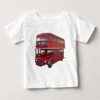 Double Decker Red Bus in Front Profile Baby T-Shirt