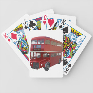 Double Decker Red Bus in Front Profile Bicycle Playing Cards