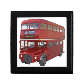 Double Decker Red Bus in Front Profile Gift Box