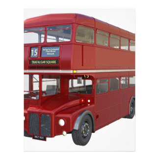 Double Decker Red Bus in Front Profile Letterhead