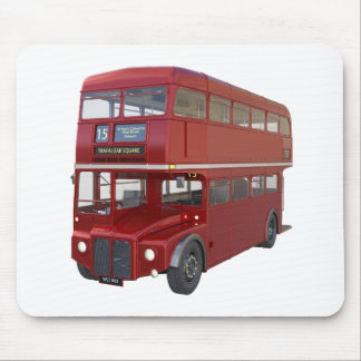 Double Decker Red Bus in Front Profile Mouse Pad
