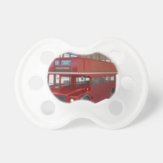 Double Decker Red Bus in Front Profile Pacifier
