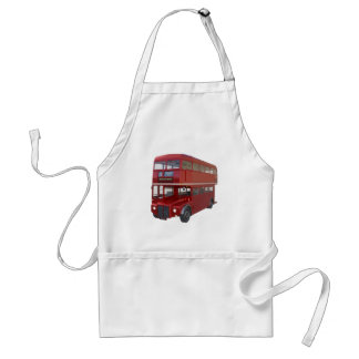 Double Decker Red Bus in Front Profile Standard Apron
