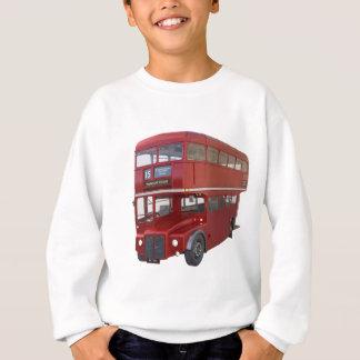 Double Decker Red Bus in Front Profile Sweatshirt
