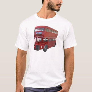 Double Decker Red Bus in Front Profile T-Shirt