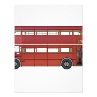 Double Decker Red Bus Letterhead