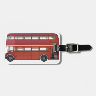 Double Decker Red Bus Luggage Tag