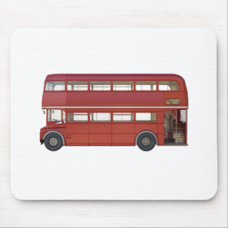 Double Decker Red Bus Mouse Pad