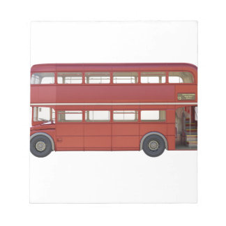 Double Decker Red Bus Notepad