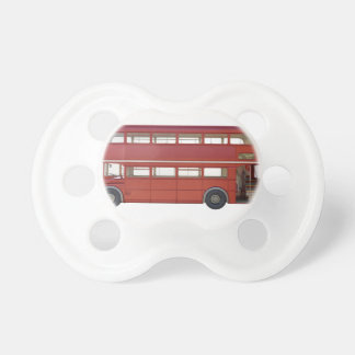 Double Decker Red Bus Pacifier