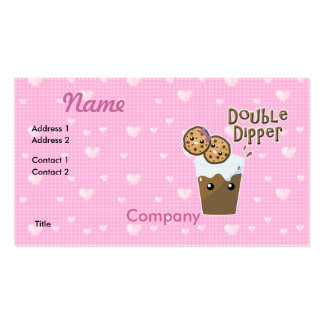 Double Dipper Cookies N Milk Business Card