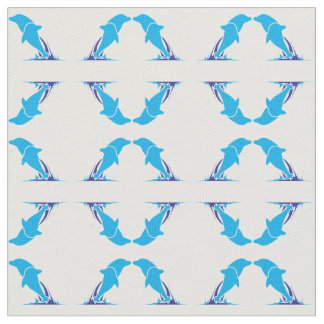Double Dolphin Cotton Fabric