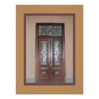 Double Doors in Barranco Poster