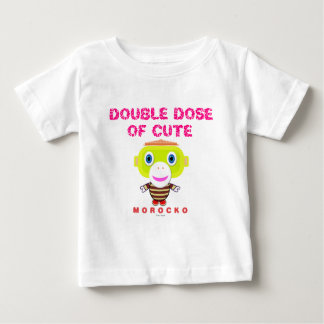 Double Dose Of Cute-Cute Monkey-Morocko Baby T-Shirt