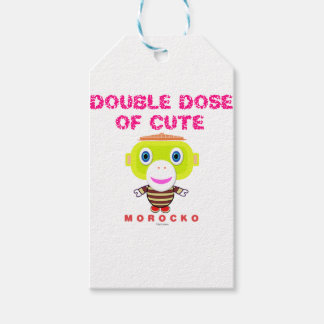 Double Dose Of Cute-Cute Monkey-Morocko Gift Tags