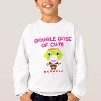 Double Dose Of Cute-Cute Monkey-Morocko Sweatshirt