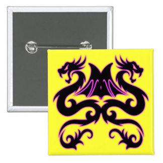 Double Dragon 2 Inch Square Button