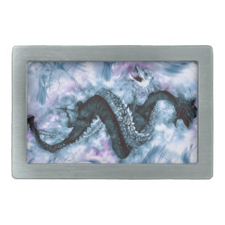 Double Dragon 4 Rectangular Belt Buckle