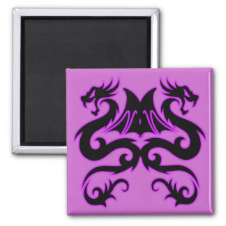 Double Dragon Square Magnet