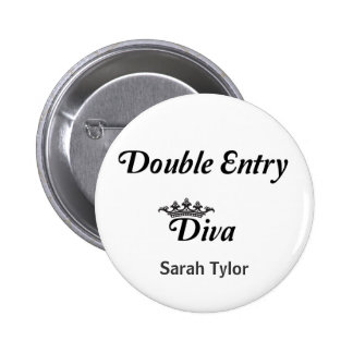 Double Entry Diva 2 Inch Round Button