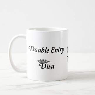 Double Entry Diva Classic White Coffee Mug