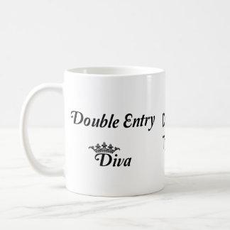 Double Entry Diva Coffee Mug