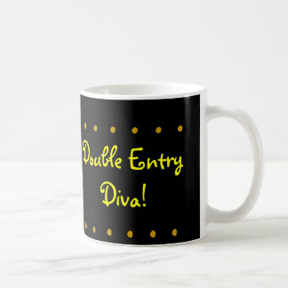 Double Entry Diva! Female CPA Congratulations Mug