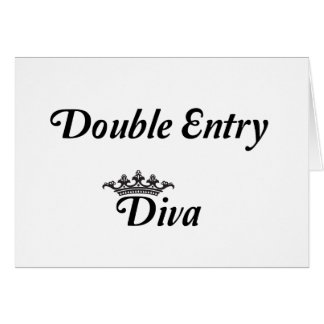 Double Entry Diva Greeting Card