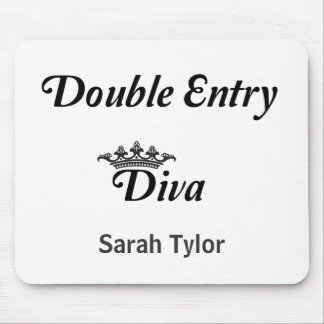 Double Entry Diva Mouse Pads