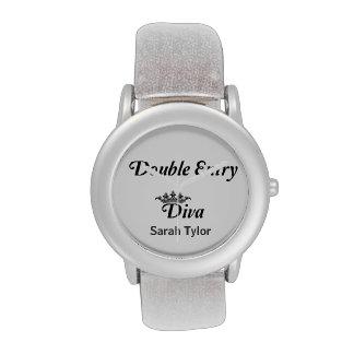 Double Entry Diva Wrist Watch