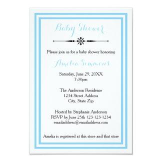 Double équilibre bleu - invitation du baby shower